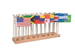 Flag Stand Of North And South America