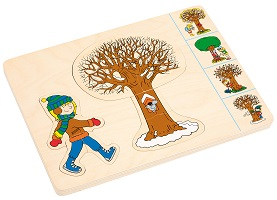 Seasons Puzzle in 4 Layers - Educo - LayerPuzzles