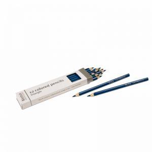3-Sided Inset Pencils Dark Blue