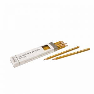 3-Sided Inset Pencils Gold