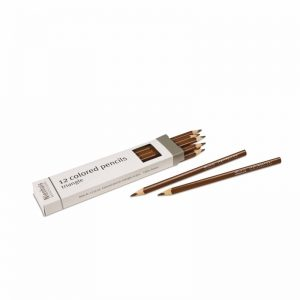 3-Sided Inset Pencils Brown