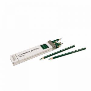 3-Sided Inset Pencils Dark Green