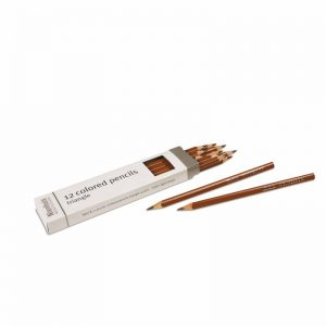 3-Sided Inset Pencils Light Brown