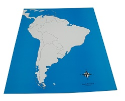 South America Control Map: Unlabeled - Childrens House Range
