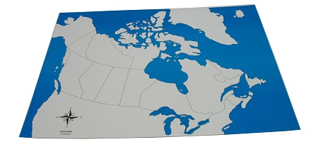 Canada Control Map: Unlabeled - Childrens House Range