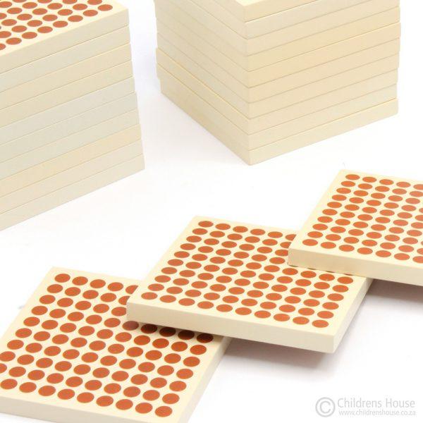 45 Wooden Hundred Squares