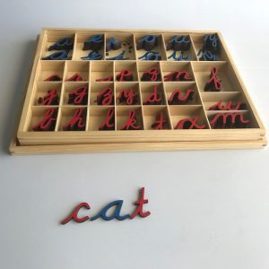 Small Movable Alphabet - Cursive with box
