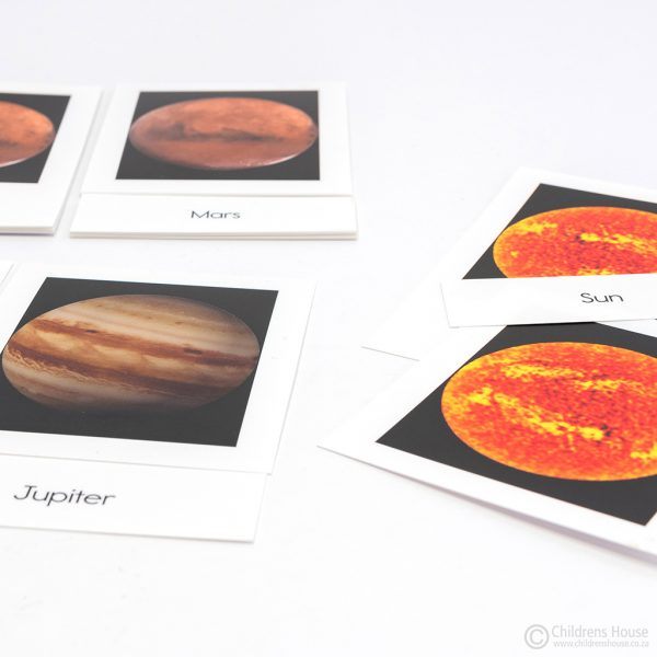 Solar System 3 Part Cards
