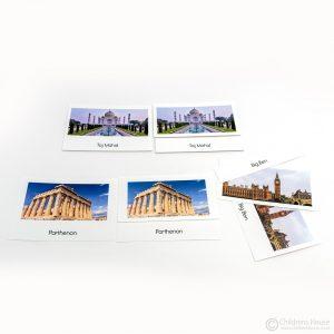 Famous Buildings - 3-Part Cards