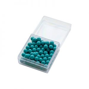100 Green Beads with Box