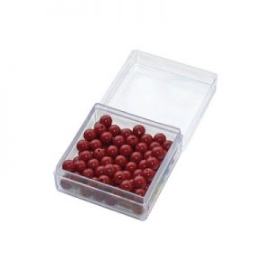 100 red beads with box
