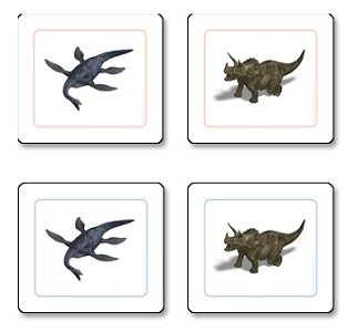 Dinosaur Matching Cards