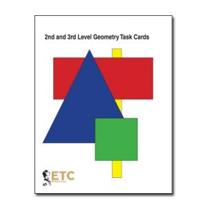 Geometry Task Cards for 2nd and 3rd Level