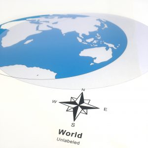 Clear Plastic Circle for Tracing World Map