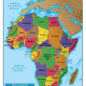 Africa - Political & Physical Map
