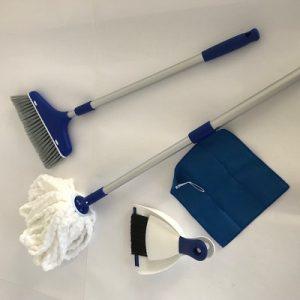 Broom, Mop & Dustpan Set