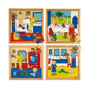 Personal Hygiene Puzzle - Complete Set of 4