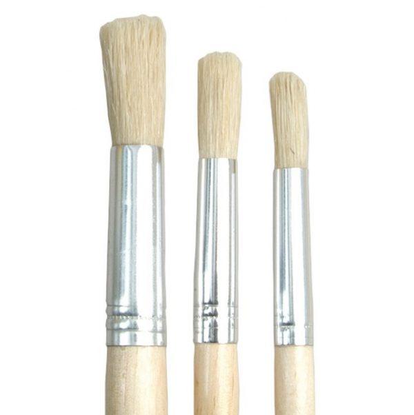 Short Handled Round Brushes - Set 504