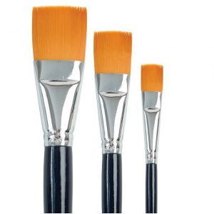 Golden Taklon Flat Brushes - Set 759