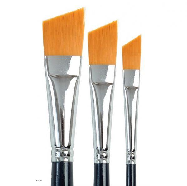 Golden Angular Brushes - Set 758