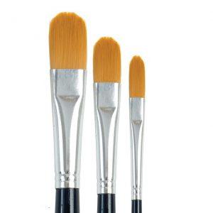 Golden Taklon Filbert Brushes - Set 757