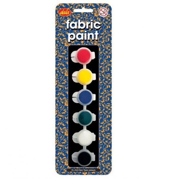 Fabric Paint 6x5ml Kit