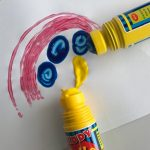 Rolla Ball Kit - 3 Rolla Ball Pens in primary colours Red, Yellow & Blue - 12 cm in length with screw tops. You gently apply pressure to the tube to release paint which is dispensed through the roller ball.  Suitable for Children 3 years and older