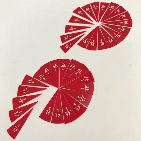 Labelled Cut Out Fractions 1:11 to 1:20