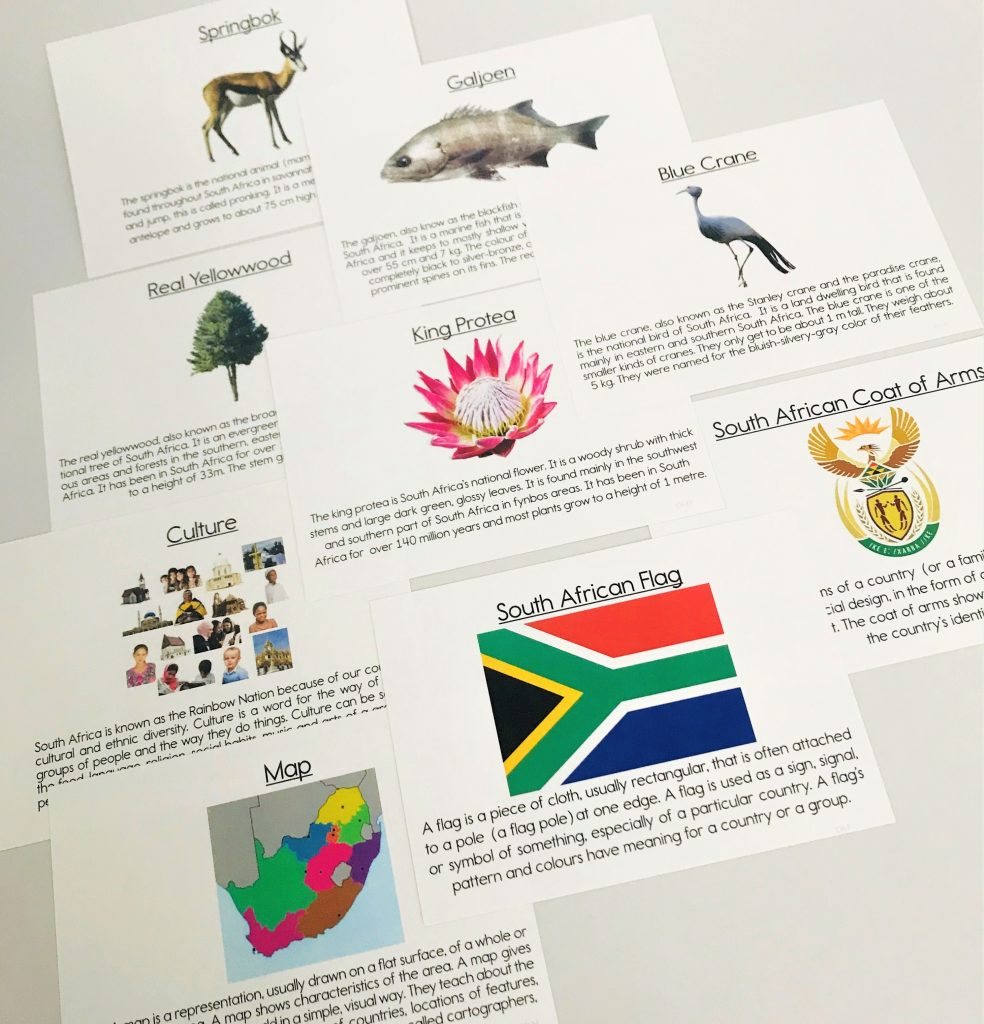 South African Heritage Integrated Activity Set