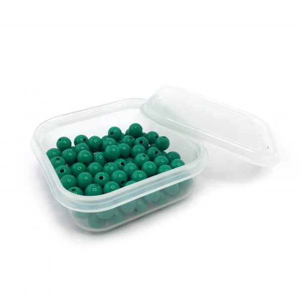 Set of 100 Green Beads
