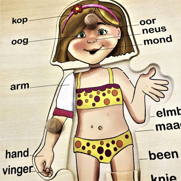 Girl Puzzle - Afrikaans