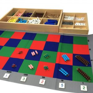 Checker Board Mat with bead stairs and number tiles