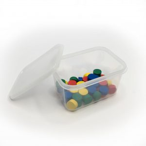 250ml Clear container with lid