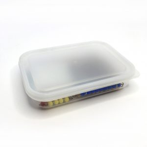 500ml Clear container with lid