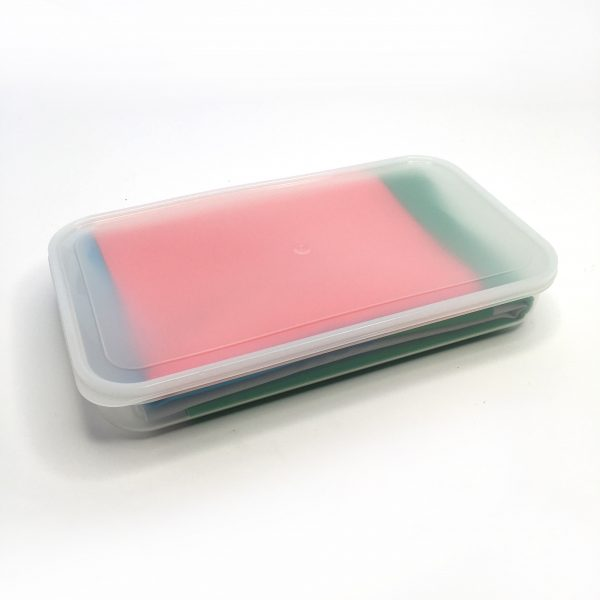800ml Clear container with lid and the place value working mat