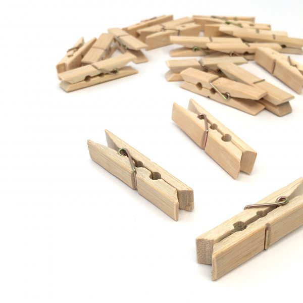 Bamboo Clothes Pegs - set of 20