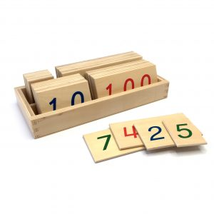 Small Wooden Number Cards with Box – 1 to 9000