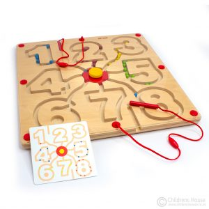 magnetic motor skills board with numbers
