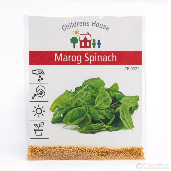 A packet of Marog Spinach Seeds