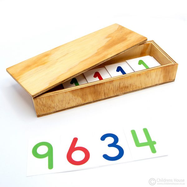Box to hold the Large Number Cards