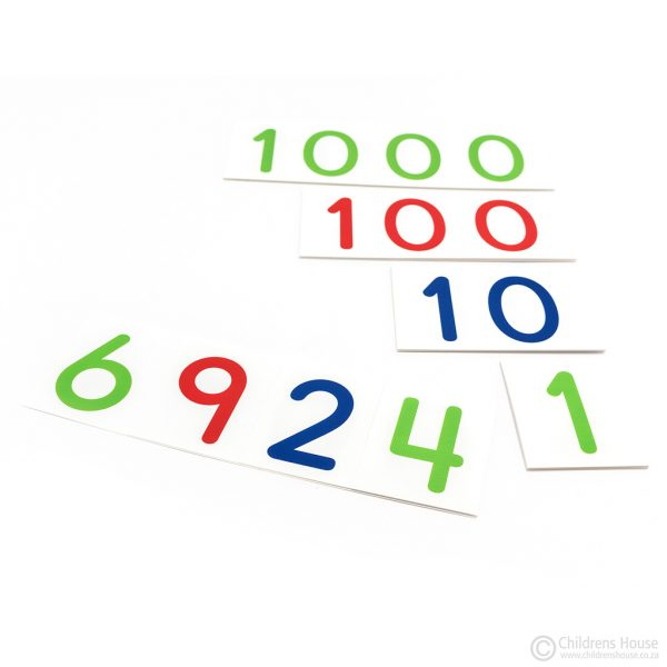 Large Laminated Number Cards - 1 to 9000
