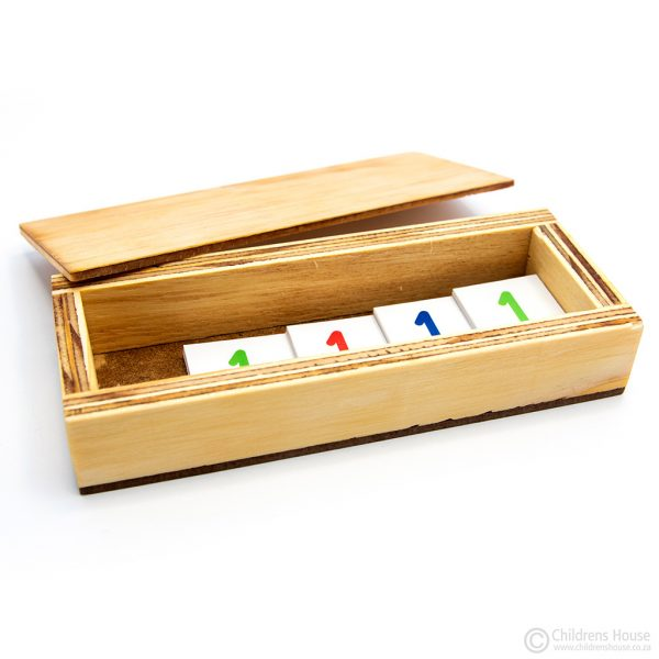 Box for the small number cards