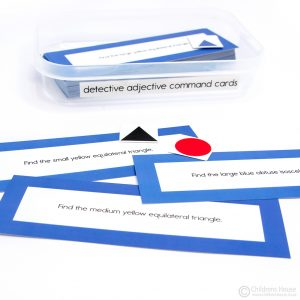 Detective Adjective Exercise Command Cards