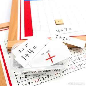 Addition Working Chart Problem Slips