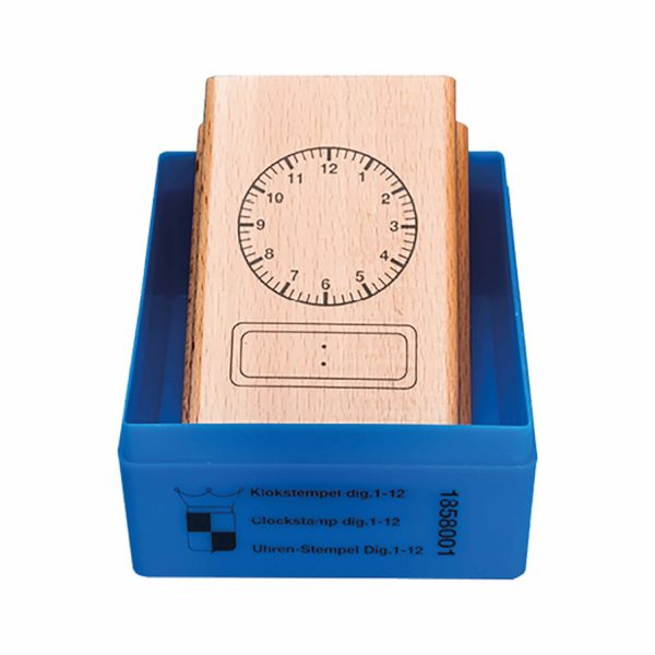 Clock Stamp: 12 Hour Digital clock face