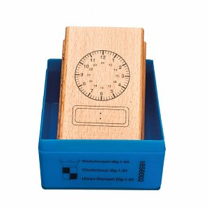 Clock Stamp: Both Analogue and 24 hour face
