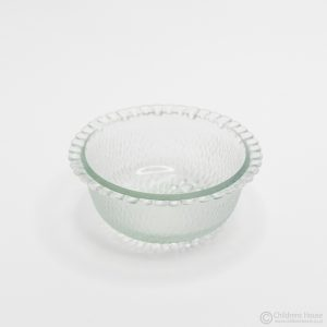 Clear Bowl with Scalloped Edge