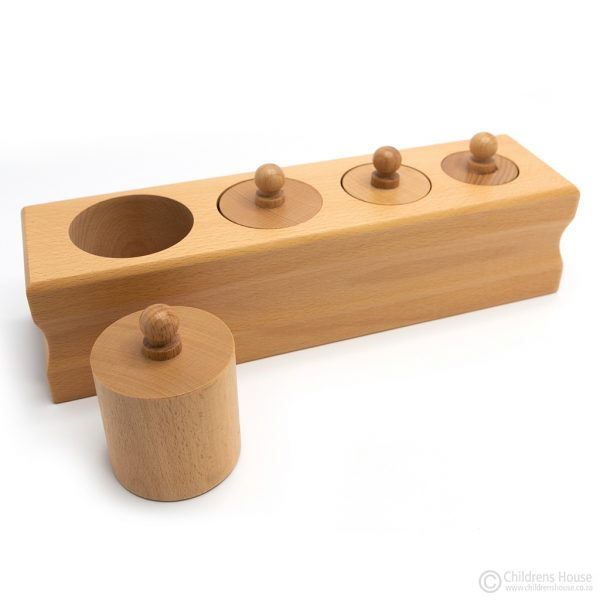 Knobbed Cylinders With 4 Cylinders - Set of 4