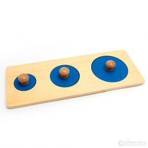 Multiple Shape Puzzle - 3 Sizes of Circles