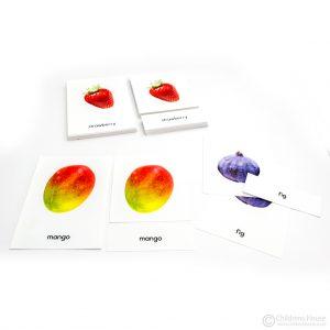 Fruit: 3-part cards